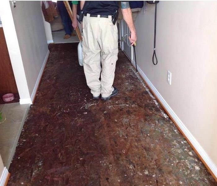 Water Damage to Condominium in Erlanger, Kentucy Before