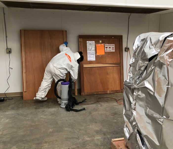 Mold Remediation in Progress