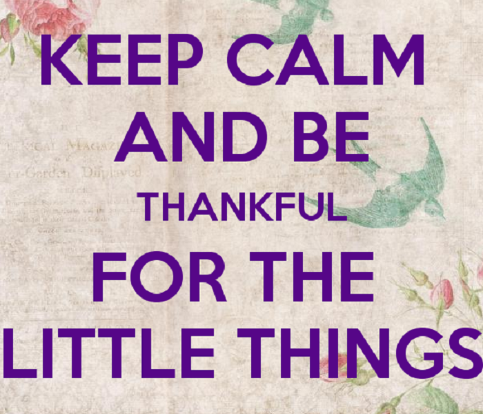 General Give Thanks for the Little Things Too