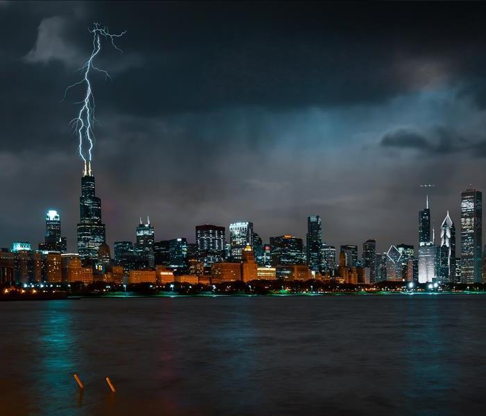 Lightning Strike in a big City